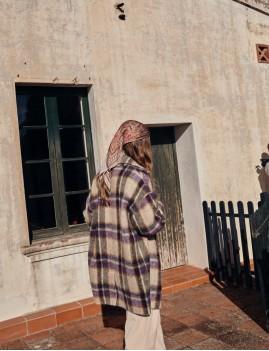Manteau hippie à carreaux oversize MORLAND - Boutique L'anana(s)
