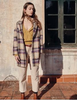Manteau à carreaux oversize MORLAND - Boutique L'anana(s)