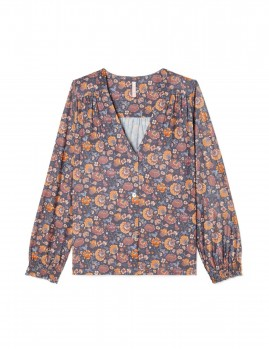 Blouse de pyjama gipsy flowers LORIE - Boutique L'anana(s)