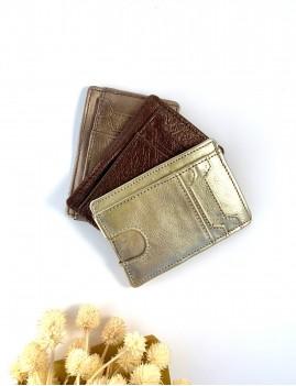 Porte-carte en cuir doré - Boutique L'anana(s)