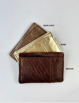 Porte-carte en cuir hippie shine - Boutique L'anana(s)