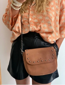 Petit sac en cuir rock hippie - Boutique L'anana(s)