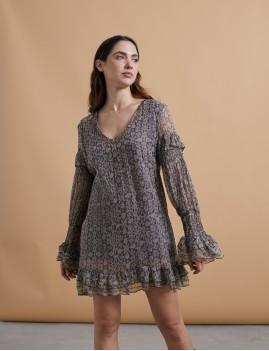 Robe courte hippie style LUGANA - Boutique L'anana(s)