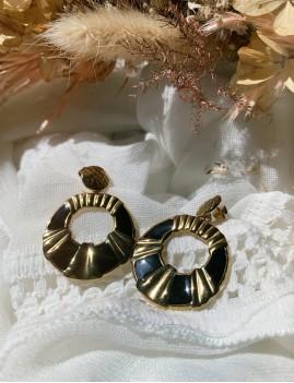 Boucles d'oreilles rondes gipsy M21FE103 - Boutique L'anana(s)