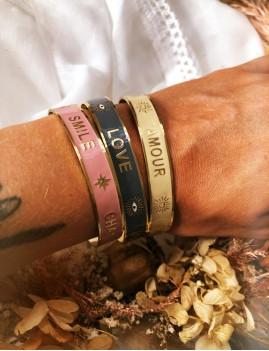 Bracelet jonc amour M21EB115 hippy - Boutique L'anana(s)