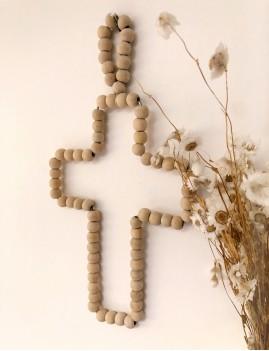 Croix en bois hippie chic - Boutique l'ananas