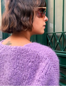 Pull en mohair violet - Boutique l'ananas