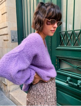 Pull en mohair over size - Boutique l'ananas