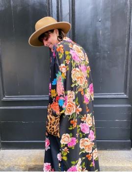 Kimono long bohème unique - boutique l'ananas