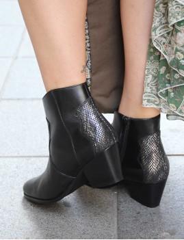 Boots en cuir à talons gypsy - Boutique l'ananas
