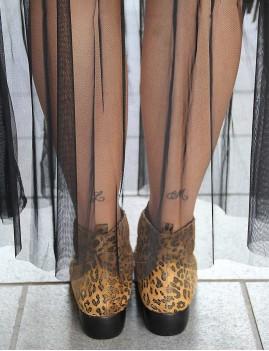 Boots en cuir gypsy léopard camel et noir - Boutique l'ananas