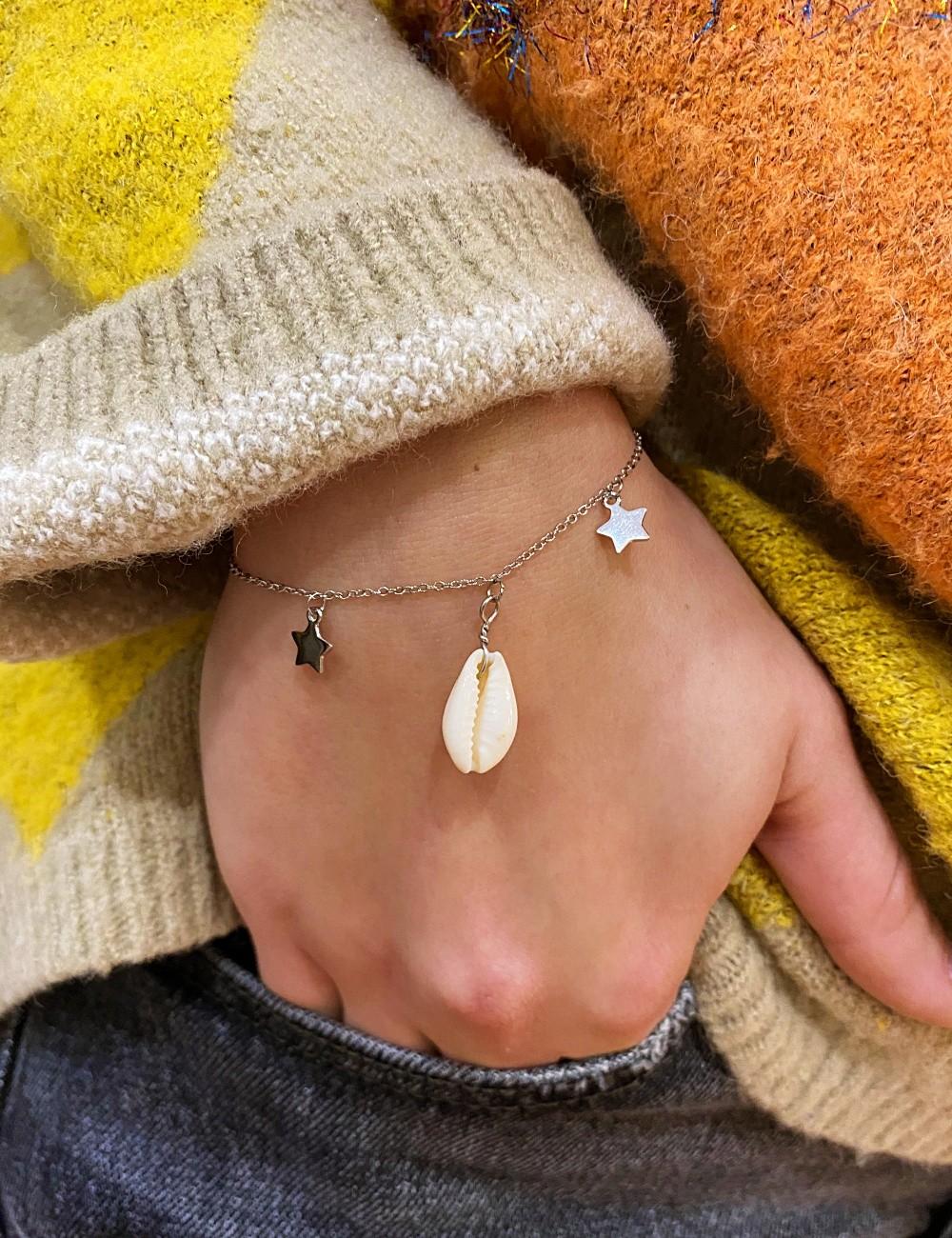 bracelet coquillage et étoiles bohème - Boutique l'ananas