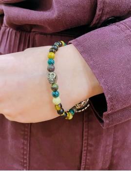 Bracelet mixte en perles rock - Boutique l'ananas