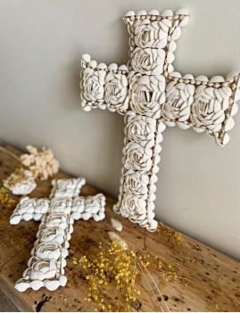 Grande croix coquillages - Boutique l'ananas
