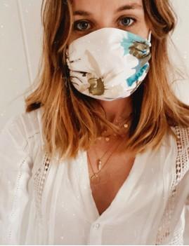 Masque protection tissus motifs fleurs - Boutique l'ananas