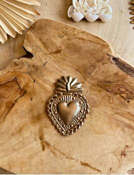 Coeur exvoto argent hippie - Boutique l'ananas