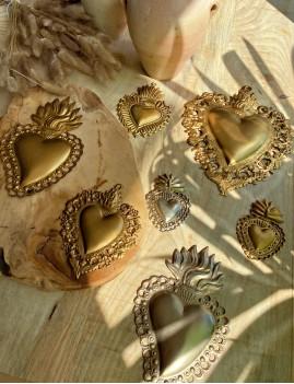 Coeur exvoto argent gypsy - Boutique l'ananas