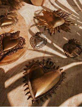 Coeur exvoto gold - Boutique l'ananas