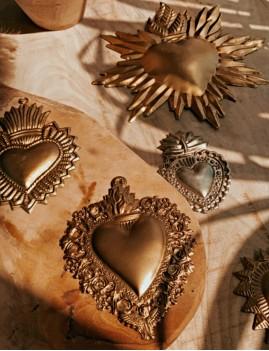 Coeur exvoto gold décoration - Boutique l'ananas