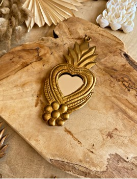 Miroir coeur exvoto gypsy - Boutique l'ananas