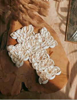 Mini croix coquillages blancs - Boutique l'ananas