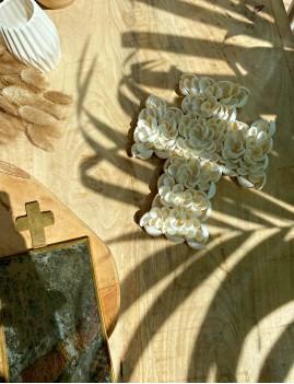 Mini croix coquillages déco hippie - Boutique l'ananas