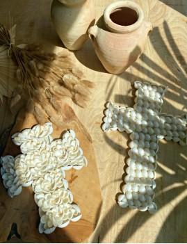 Mini croix coquillages déco gypsy - Boutique l'ananas