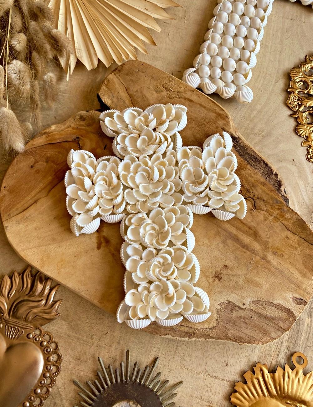 Mini croix coquillages déco Bali - Boutique l'ananas