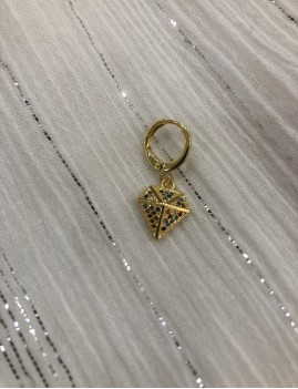 Mini créole diamant strass multicolore - Boutique L'ananas