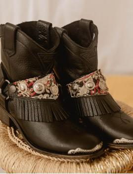 Boots en cuir gypsy à franges - Boutique l'ananas