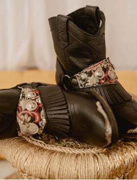 Boots en cuir bohème à franges - Boutique l'ananas