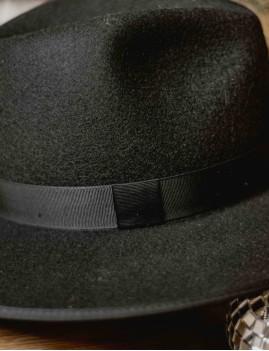 Chapeau laine noir esmee boho chic - Boutique L'ananas