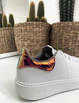 Baskets Victoria gipsy vinyle compensées hippie - Boutique L'ananas
