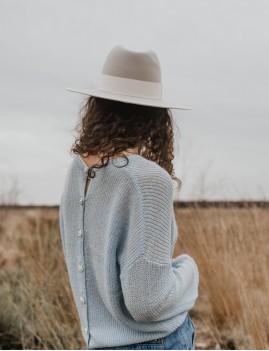 Chapeau laine gris NINA feutre gipsy girl - Boutique L'ananas