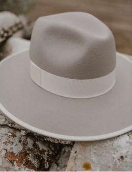 Chapeau laine gris NINA feutre bohème hippie - Boutique L'ananas