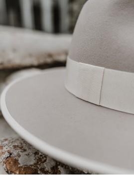 Chapeau laine gris NINA feutre bohème  - Boutique L'ananas