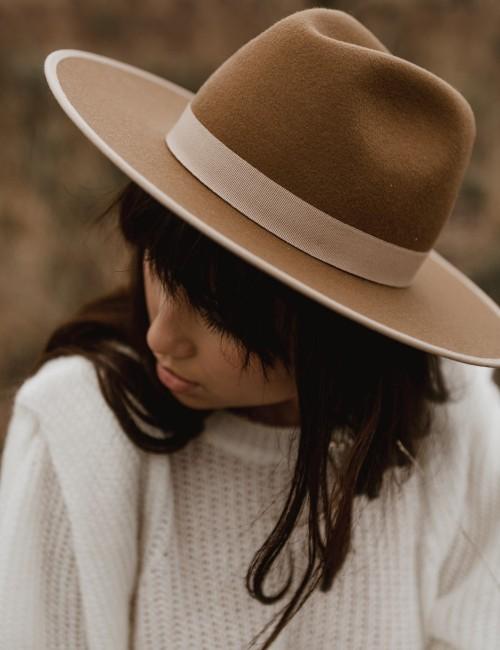 Chapeau laine camel ambre boho girl - Boutique L'ananas