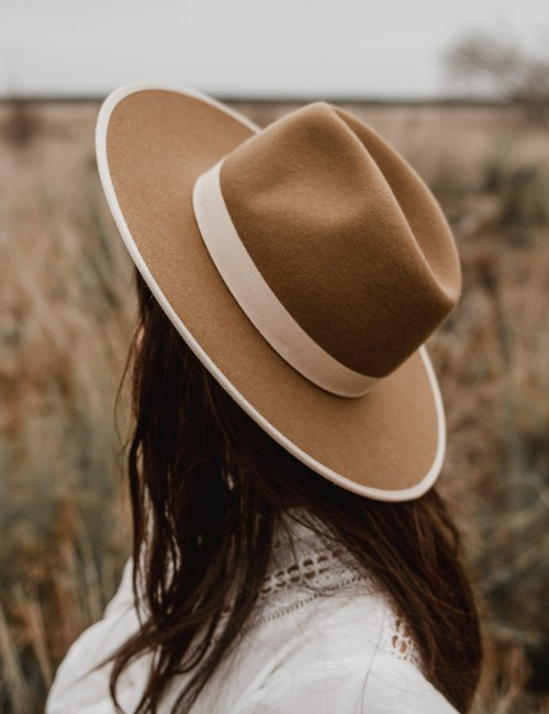 Chapeau laine camel ambre gipsy girl - Boutique L'ananas