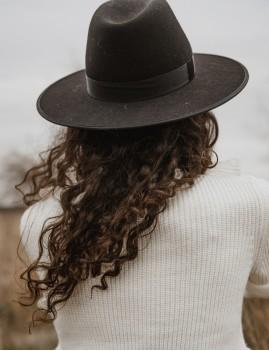 Chapeau laine noir esmee hippie - Boutique L'ananas