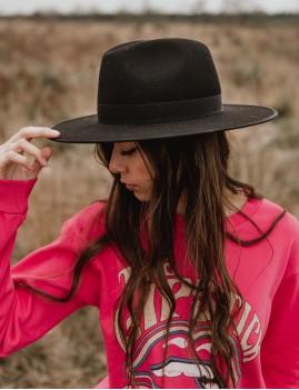 Chapeau laine noir esmee boho hat - Boutique L'ananas