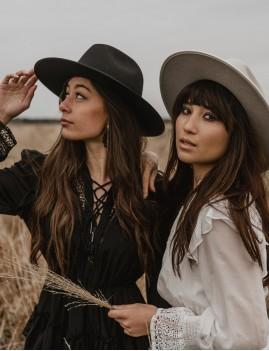 Chapeau laine noir esmee hippie boho - Boutique L'ananas