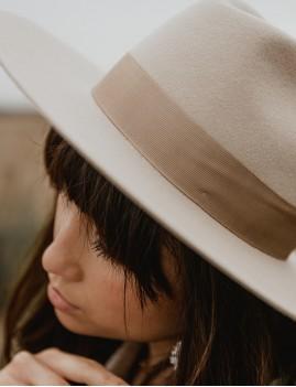 Chapeau laine beige june hippie chic - Boutique L'ananas