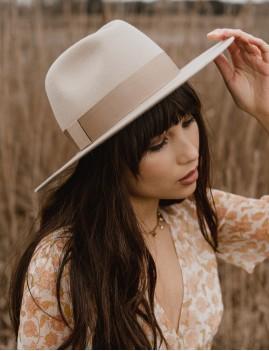 Chapeau laine beige june hippie - Boutique L'ananas