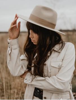 Chapeau laine beige june bohemian girl - Boutique L'ananas