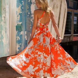 New New New .. 🧡 Encore des nouveautés pour l'été sur www.boutique-lananas.com !  Notre best-seller, la robe longue dos nu imprimée d'été. 🌸✨  #robelongue #robeboheme #robecoloree #colorfull #ootdfashion #ootd #outfitinspiration #outfitboheme #bordeaux #boutiquelananas