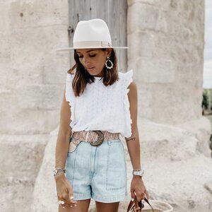 Bohème Vibes ✨🍍 Notre chapeau LENA porté par la jolie @marjo_lbl. 🥰 Quel plaisir nous avons de vous voir porter nos créations..  #ootd #outfit #bohemevibes #boheme #hat #chapeau #chapeauboheme #chapeaumariage #creatricefrancaise #creatricebordelaise #bordeaux #boutiquelananas