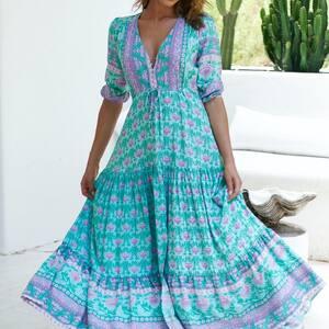 Bohème Style ✨ Robe longue bohème à découvrir sur www.boutique-lananas.com   #robelongue #robeboheme #bohemestyle #bordeaux #boutiquelananas #boheme #robemariage #ootd #outfit