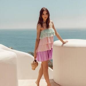 RAINBOW PASTEL 🌈 2 en 1 : Vous préférez en version courte ou longue ? www.boutique-lananas.com  #robevolants #robebustier #roberainbow #boutiquelananas #lananas #bordeaux #ootd #outfit #fashionstyle