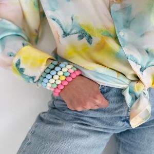 New Collection «COULEUR PASTEL» C'est en ligne dès ce dimanche matin 11h ! www.boutique-lananas.com  De jolies couleurs pastel en bijoux et accessoires. Bon dimanche 💜  #newco #pastel #couleurpastel #bordeaux #boutiquelananas #bracelet #ootd #pastelcolors
